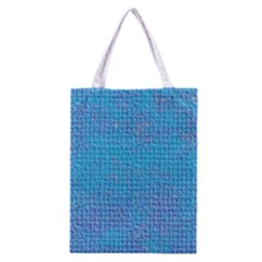 Textured Blue & Purple Abstract Classic Tote Bag