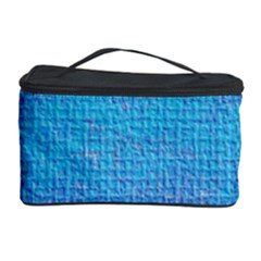 Textured Blue & Purple Abstract Cosmetic Storage Case