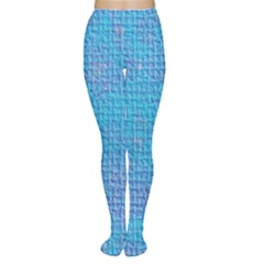 Textured Blue & Purple Abstract Tights