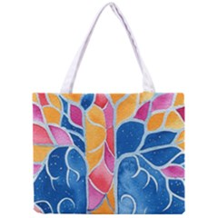 Yellow Blue Pink Abstract  Tiny Tote Bag