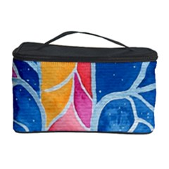 Yellow Blue Pink Abstract  Cosmetic Storage Case