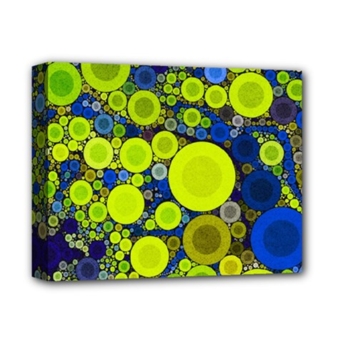 Polka Dot Retro Pattern Deluxe Canvas 14  X 11  (framed)