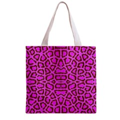Florescent Pink Animal Print  Grocery Tote Bag