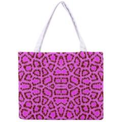 Florescent Pink Animal Print  Tiny Tote Bag