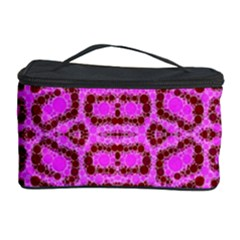 Florescent Pink Animal Print  Cosmetic Storage Case