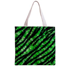 Florescent Green Tiger Bling Pattern  Grocery Tote Bag