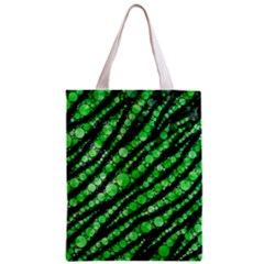 Florescent Green Tiger Bling Pattern  Classic Tote Bag