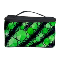 Florescent Green Tiger Bling Pattern  Cosmetic Storage Case
