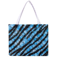 Bright Blue Tiger Bling Pattern  Tiny Tote Bag