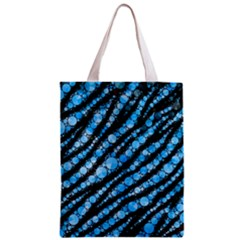 Bright Blue Tiger Bling Pattern  Classic Tote Bag