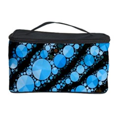 Bright Blue Tiger Bling Pattern  Cosmetic Storage Case