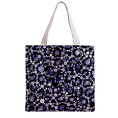 Lavender Cheetah Bling Abstract  Grocery Tote Bag