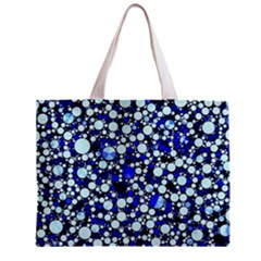 Bright Blue Cheetah Bling Abstract  Tiny Tote Bag