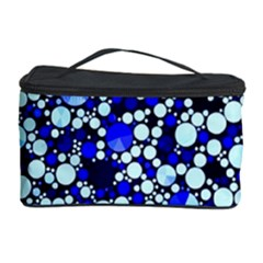 Bright Blue Cheetah Bling Abstract  Cosmetic Storage Case