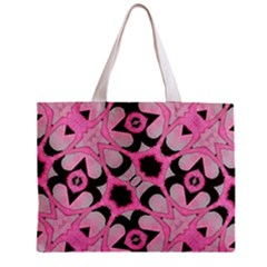 Powder Pink Black Abstract  Tiny Tote Bag