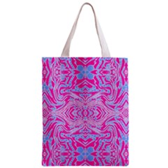 Trippy Florescent Pink Blue Abstract  Classic Tote Bag
