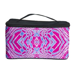 Trippy Florescent Pink Blue Abstract  Cosmetic Storage Case