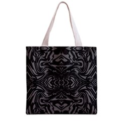 Trippy Black&white Abstract  Grocery Tote Bag