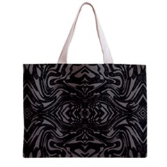 Trippy Black&white Abstract  Tiny Tote Bag