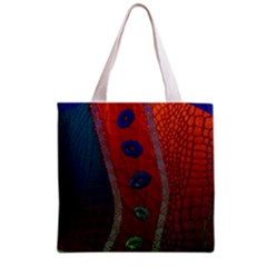 Funky Florescent Sassy Lips  Grocery Tote Bag
