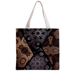 Crazy Beautiful Black Brown Abstract  Grocery Tote Bag