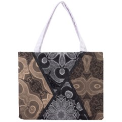 Crazy Beautiful Black Brown Abstract  Tiny Tote Bag