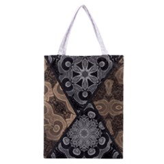 Crazy Beautiful Black Brown Abstract  Classic Tote Bag