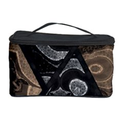 Crazy Beautiful Black Brown Abstract  Cosmetic Storage Case