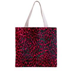 Florescent Pink Leopard Grunge  Grocery Tote Bag