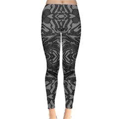 Trippy Black&white Abstract  Leggings