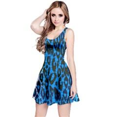 Florescent Blue Cheetah  Reversible Sleeveless Dress