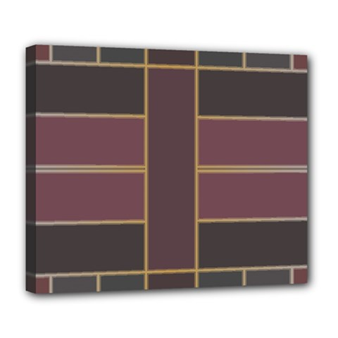 Vertical And Horizontal Rectangles Deluxe Canvas 24  X 20  (stretched)
