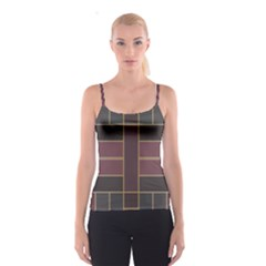 Vertical And Horizontal Rectangles Spaghetti Strap Top