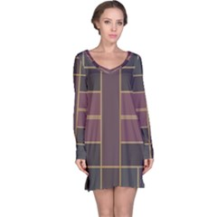 Vertical and horizontal rectangles nightdress