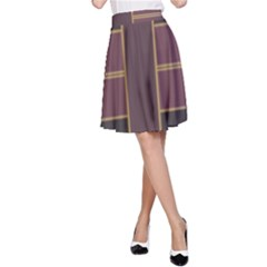 Vertical and horizontal rectangles A-line Skirt