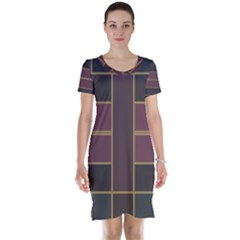 Vertical and horizontal rectangles Short Sleeve Nightdress