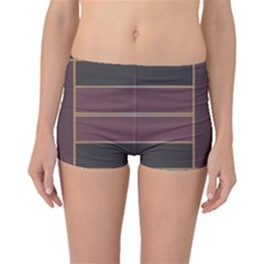 Vertical and horizontal rectangles Boyleg Bikini Bottoms