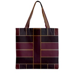 Vertical and horizontal rectangles Grocery Tote Bag
