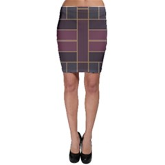 Vertical and horizontal rectangles Bodycon Skirt