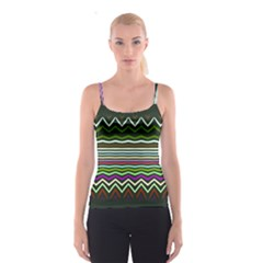 Chevrons and distorted stripes Spaghetti Strap Top