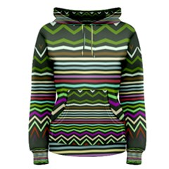 Chevrons and distorted stripes Pullover Hoodie