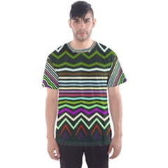 Chevrons And Distorted Stripes Men s Sport Mesh Tee