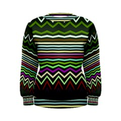 Chevrons And Distorted Stripes Sweatshirt