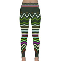 Chevrons and distorted stripes Yoga Leggings