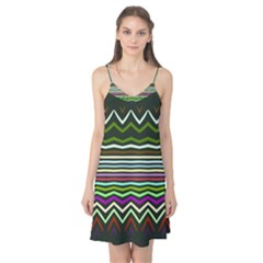 Chevrons And Distorted Stripes Camis Nightgown