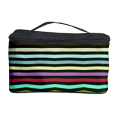 Chevrons And Distorted Stripes Cosmetic Storage Case