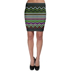 Chevrons and distorted stripes Bodycon Skirt