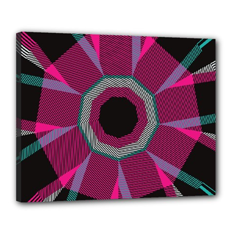 Striped Hole Canvas 20  X 16  (stretched)