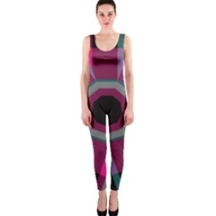 Striped hole OnePiece Catsuit