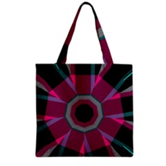 Striped hole Grocery Tote Bag